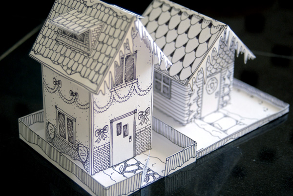 Phenomenal Winter Time Paper House Freebie Twelve22 Largest Home Design Picture Inspirations Pitcheantrous